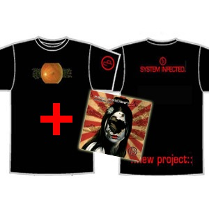 System Infected T-shirt + Ultraviolent Light CD